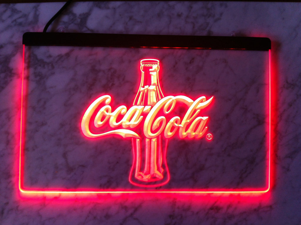 FREE Coca Cola Bottle 2 LED Sign - Red - TheLedHeroes