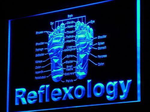 Reflexology Foot Massage LED Neon Sign USB - Blue - TheLedHeroes