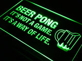Beer Pong A Way of Life LED Sign - Green - TheLedHeroes
