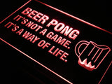 Beer Pong A Way of Life LED Sign - Red - TheLedHeroes