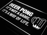 Beer Pong A Way of Life LED Sign - White - TheLedHeroes