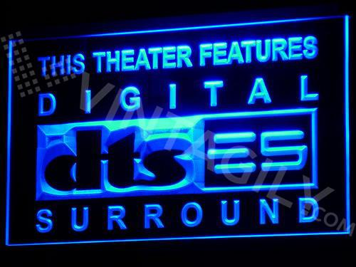 DTS - Digital Surround LED Neon Sign USB - Blue - TheLedHeroes