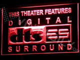DTS - Digital Surround LED Neon Sign USB - Red - TheLedHeroes