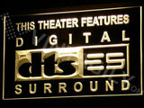 DTS - Digital Surround LED Neon Sign USB - Yellow - TheLedHeroes
