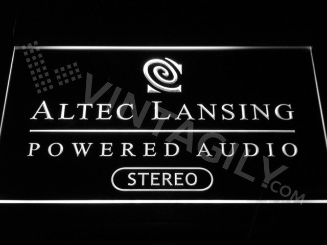 Altec Lansing LED Sign - White - TheLedHeroes