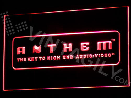 Anthem LED Sign - Red - TheLedHeroes
