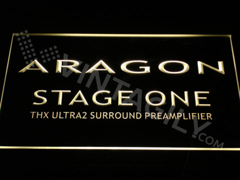 FREE Aragon Stage One LED Sign - Yellow - TheLedHeroes