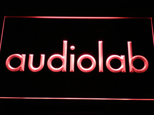 Audiolab LED Sign - Red - TheLedHeroes