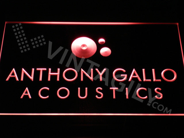 Anthony Gallo Acoustics LED Sign - Red - TheLedHeroes