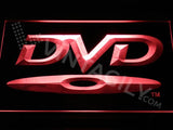 DVD Disc LED Neon Sign USB - Red - TheLedHeroes