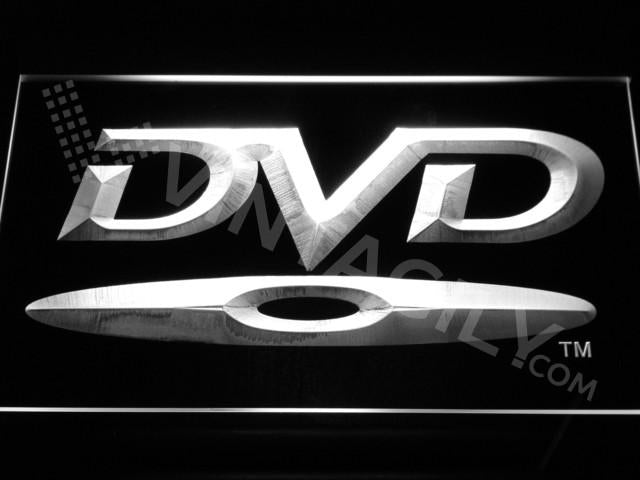 DVD Disc LED Neon Sign USB - White - TheLedHeroes