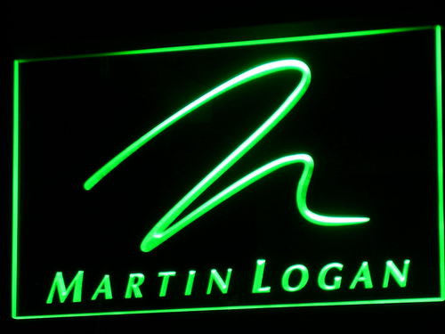 Martin Logan Speaker Audio Home LED Sign - Green - TheLedHeroes