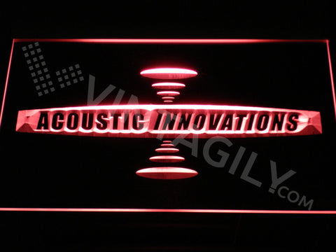 FREE Acoustic Innovations LED Sign - Red - TheLedHeroes