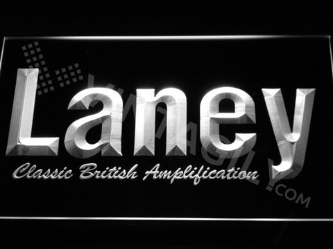 FREE Laney Amplification LED Sign - White - TheLedHeroes