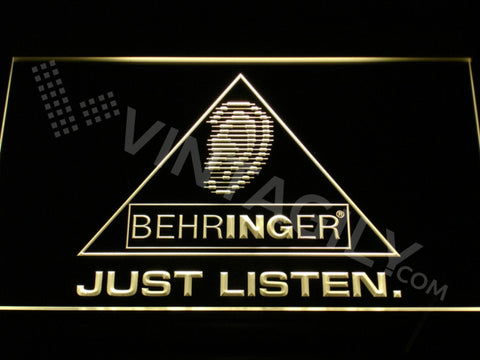 FREE Behringer LED Sign - Yellow - TheLedHeroes