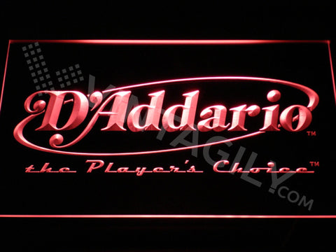 FREE D'addario LED Sign - Red - TheLedHeroes
