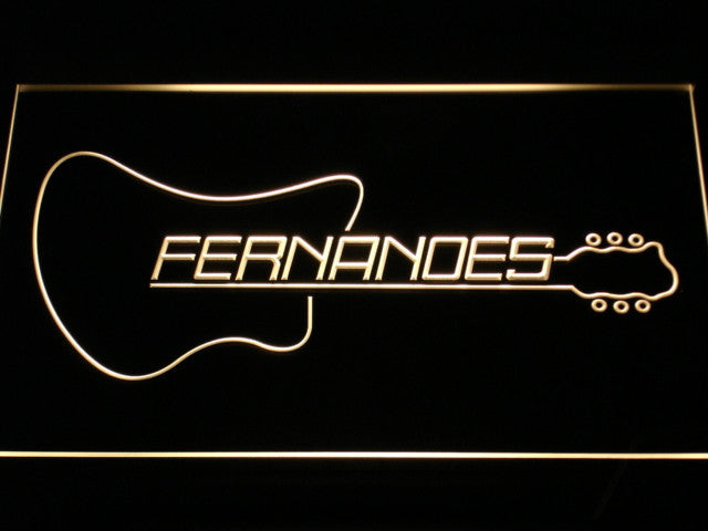 Fernandes Guitar 2 LED Sign - Multicolor - TheLedHeroes