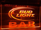 Bud Light Bar LED Neon Sign Electrical - Orange - TheLedHeroes