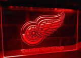 FREE Detroit Red Wings LED Sign - Red - TheLedHeroes