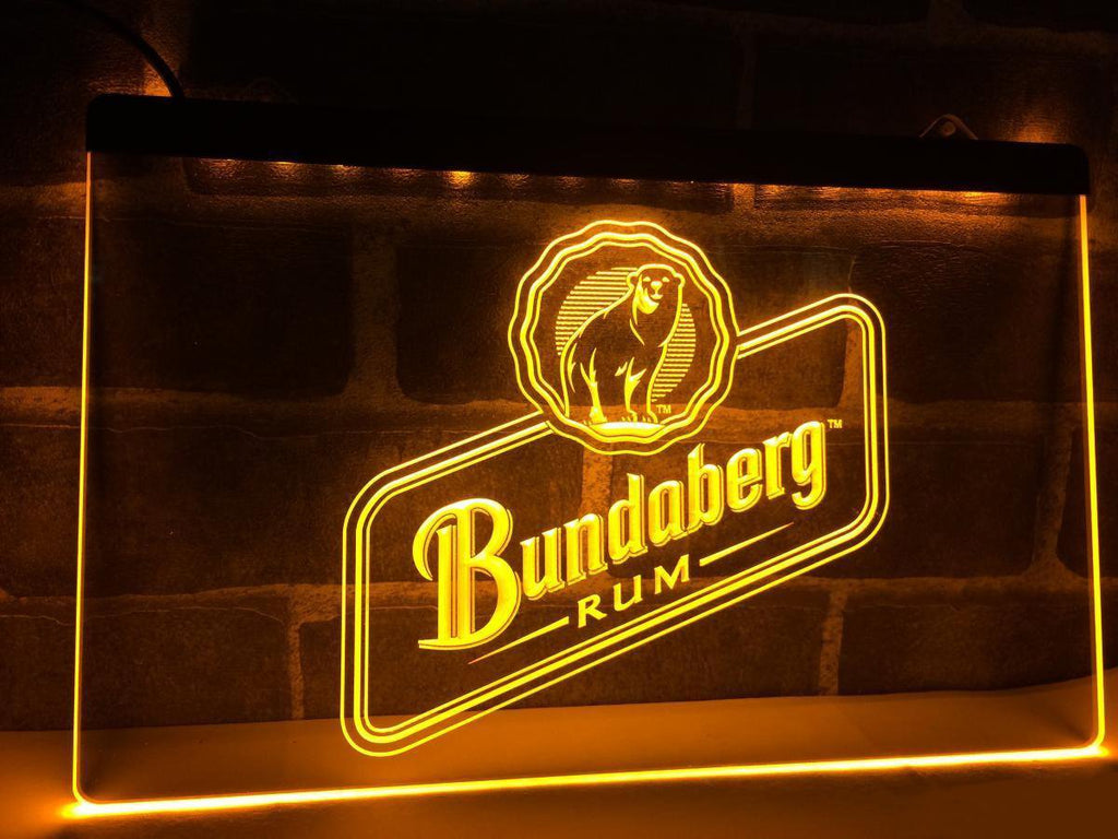 Bundaberg Rum LED Neon Sign Electrical - Yellow - TheLedHeroes