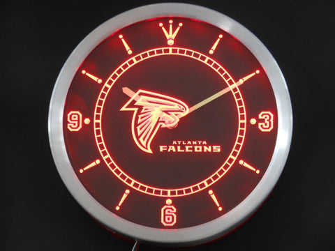 Atlanta Falcons Sign LED Wall Clock - Red - TheLedHeroes