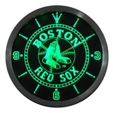 Boston Red Sox Neon Sign LED Wall Clock - FREE SHIPPING