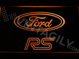 Ford RS LED Neon Sign USB - Orange - TheLedHeroes