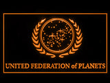 FREE Star Trek United Federation of Planets LED Sign - Orange - TheLedHeroes