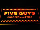 Five Guys LED Neon Sign USB - Orange - TheLedHeroes