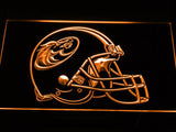 Austin Wranglers Helmet LED Neon Sign USB - Orange - TheLedHeroes