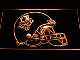 New Orleans VooDoo Helmet LED Neon Sign USB - Orange - TheLedHeroes