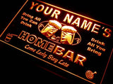 Home Bar Beer Name Personalized Custom LED Sign - Orange - TheLedHeroes