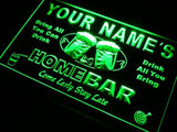 Home Bar Beer Name Personalized Custom LED Sign - Green - TheLedHeroes