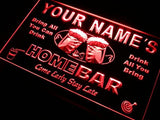 Home Bar Beer Name Personalized Custom LED Sign - Red - TheLedHeroes