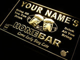 Home Bar Beer Name Personalized Custom LED Sign - Yellow - TheLedHeroes