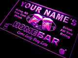 Home Bar Beer Name Personalized Custom LED Sign - Purple - TheLedHeroes