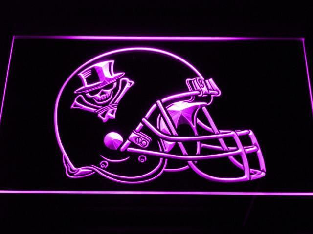 New Orleans VooDoo Helmet LED Neon Sign USB - Purple - TheLedHeroes