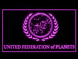 FREE Star Trek United Federation of Planets LED Sign - Purple - TheLedHeroes