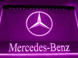 FREE Mercedes Benz 2 LED Sign - Purple - TheLedHeroes