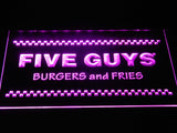 Five Guys LED Neon Sign USB - Yellow - TheLedHeroes
