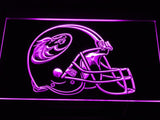 Austin Wranglers Helmet LED Neon Sign USB - Purple - TheLedHeroes