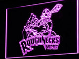 Calgary Roughnecks LED Neon Sign Electrical - Yellow - TheLedHeroes