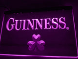 FREE Guinness Beer Shamrock (2) LED Sign - Purple - TheLedHeroes