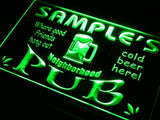 Neighborhood Pub Name Personalized Custom LED Sign - Green - TheLedHeroes