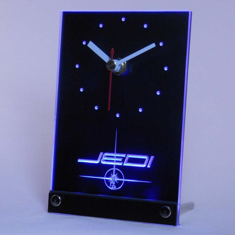 Jedi Star Wars Table Desk 3D LED Clock -  - TheLedHeroes