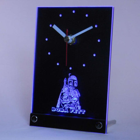 Boba Fett Star Wars Table Desk 3D LED Clock