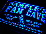 Hockey Fan Cave Name Personalized Custom LED Sign