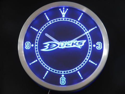 Anaheim Ducks Sign LED Wall Clock - Blue - TheLedHeroes