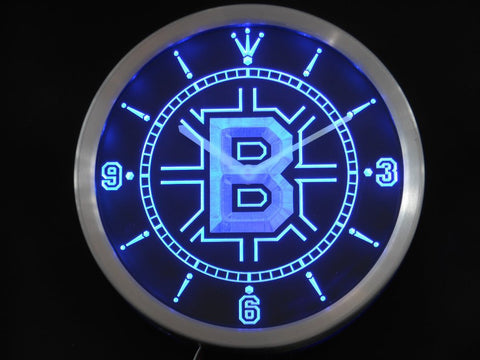 Boston Bruins Sign LED Wall Clock - Blue - TheLedHeroes