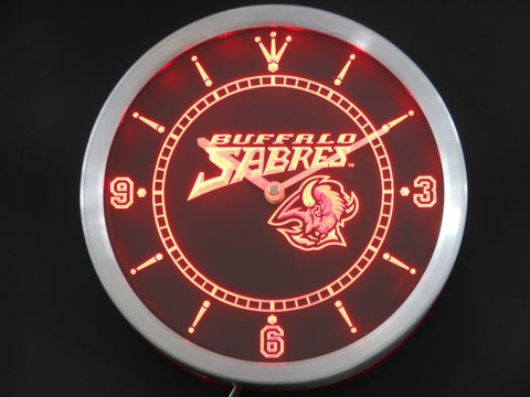 Buffalo Sabres Sign LED Wall Clock